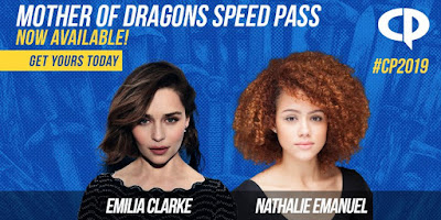 Winter is Coming to Houston, Texas: Game of Thrones Star Emilia Clarke Headlines Comicpalooza 2019!