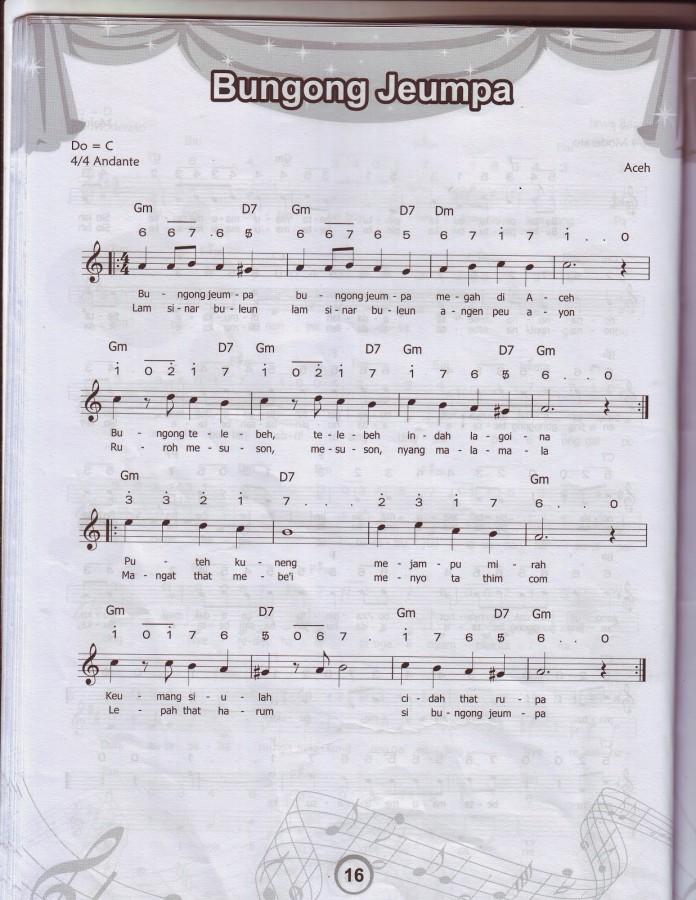 Lagu Daerah Aceh Bungong Jeumpa Instrument - YouTube