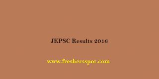JKPSC Results 2016