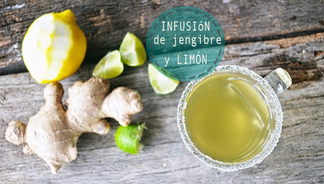 Te verde limon y jengibre para adelgazar