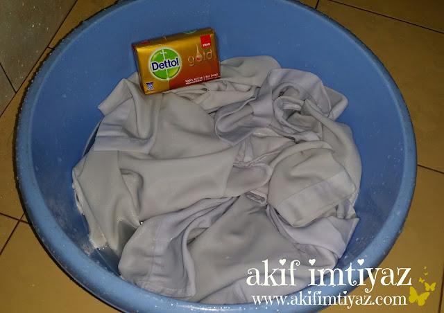 Dettol Gold , Cara Hilangkan Kotoran Pada Pakaian, Petua Hilangkan Kotoran Pada Pakaian ,Pakaian Bersih Dengan Dettol Gold