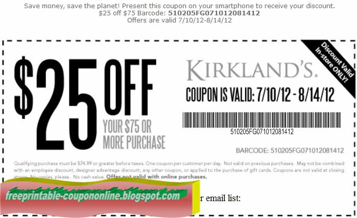 Dec. - Find the best 50 Kirklands coupons, promo codes and get free shipping Get the best price and save money with DontPayFull.