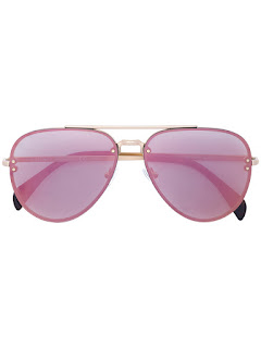 replica celine eyewear gold-tone aviator sunglasses
