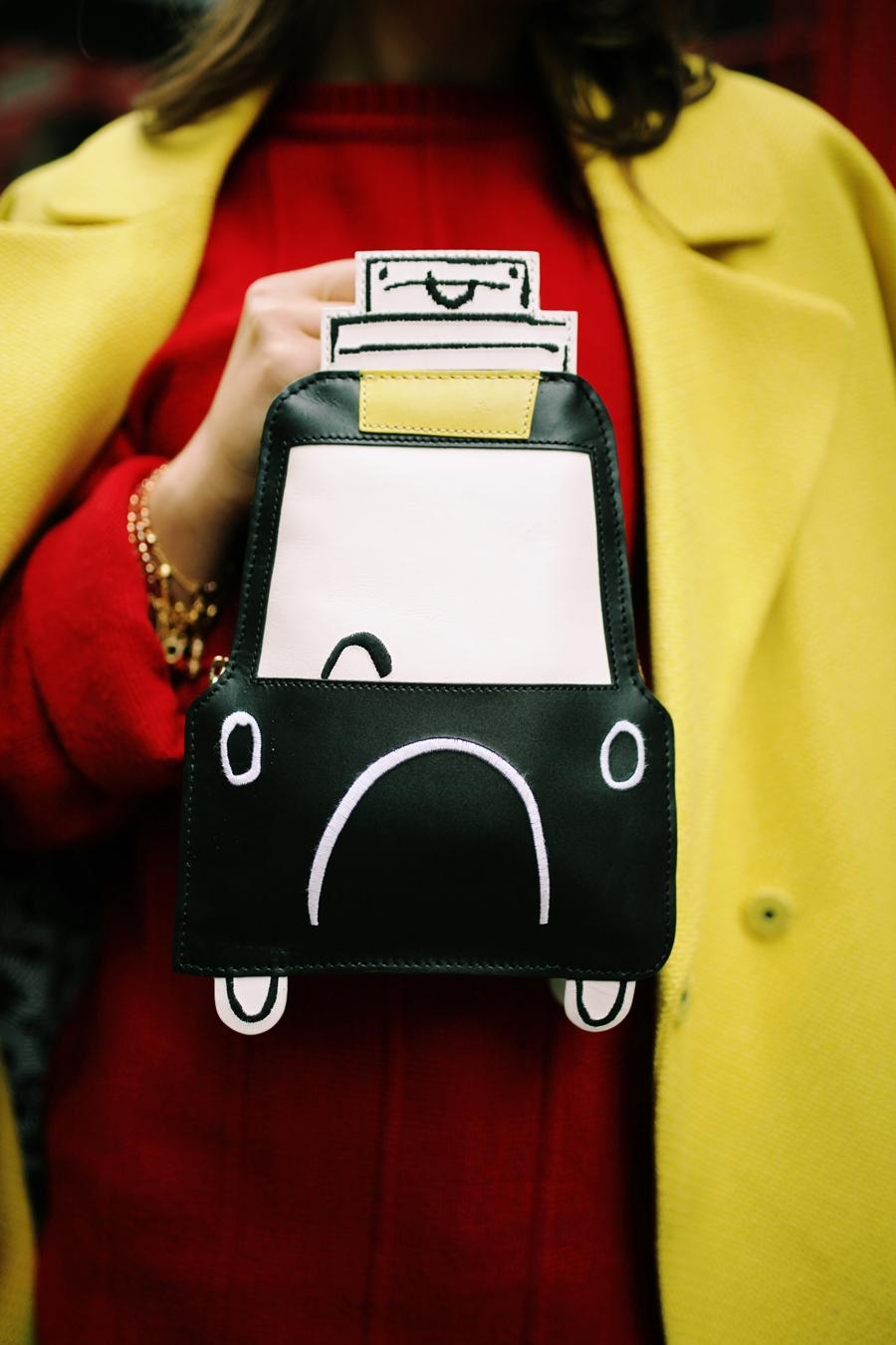 london fashion week clutch auto tasche details