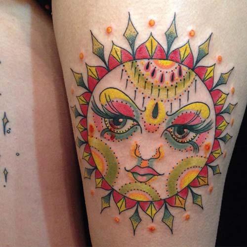 güneş dövmeleri sun tattoos 19