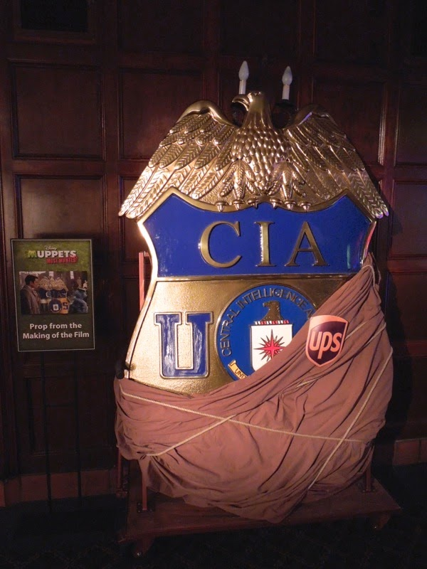 Giant CIA badge prop Muppets Most Wanted