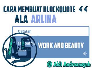 Blockquote Ala Arlina
