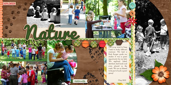 Double Page Scrapbook Page
