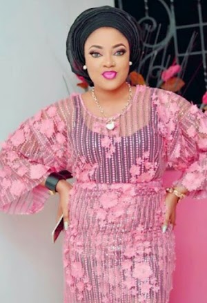Beautiful Yoruba Actress Sotayo Looks take away  In Sheer Lace Outfit- See photos