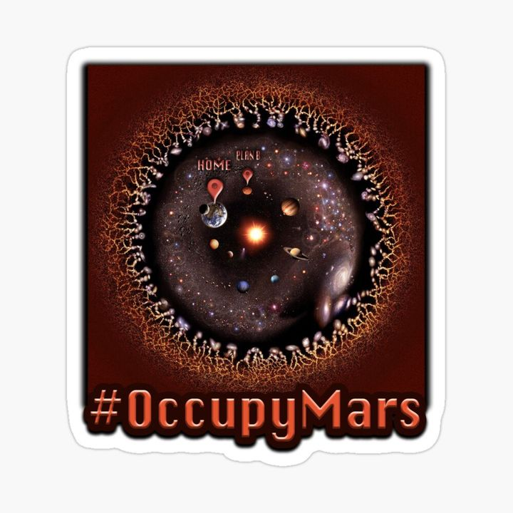 #OccupyMars as the hashtag preferred by enthusiasts to colonize the red planet first