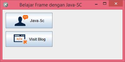 Gambar 2 - jButton Pada Komponen Swing Di Java