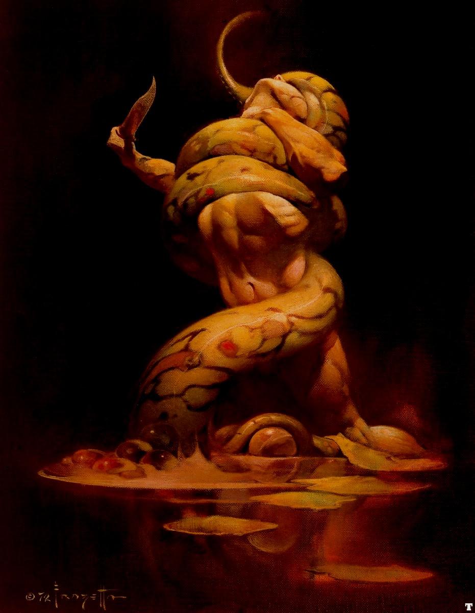 Frank frazetta fantasy art nude