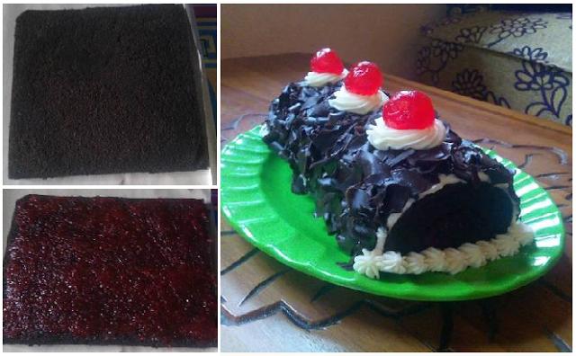 Resep Roll Cake Kukus Ekonomis: Resep Praktis Steam Roll Cake Black Forest Kukus Yang