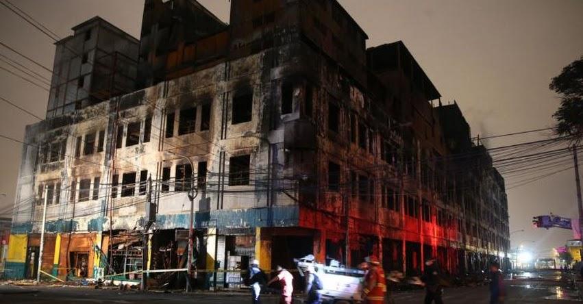 INCENDIO EN LAS MALVINAS: Ministerio de Trabajo denunció penalmente a responsables del incendio - www.trabajo.gob.pe