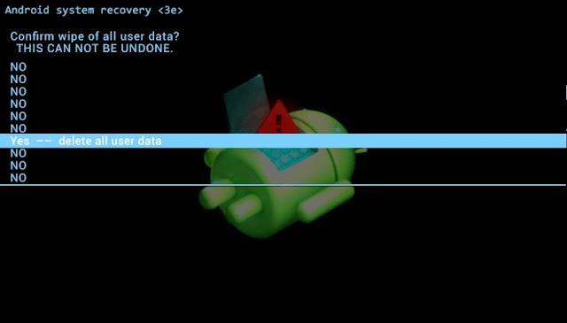 confirmar eliminar los datos de la tablet emerson em749