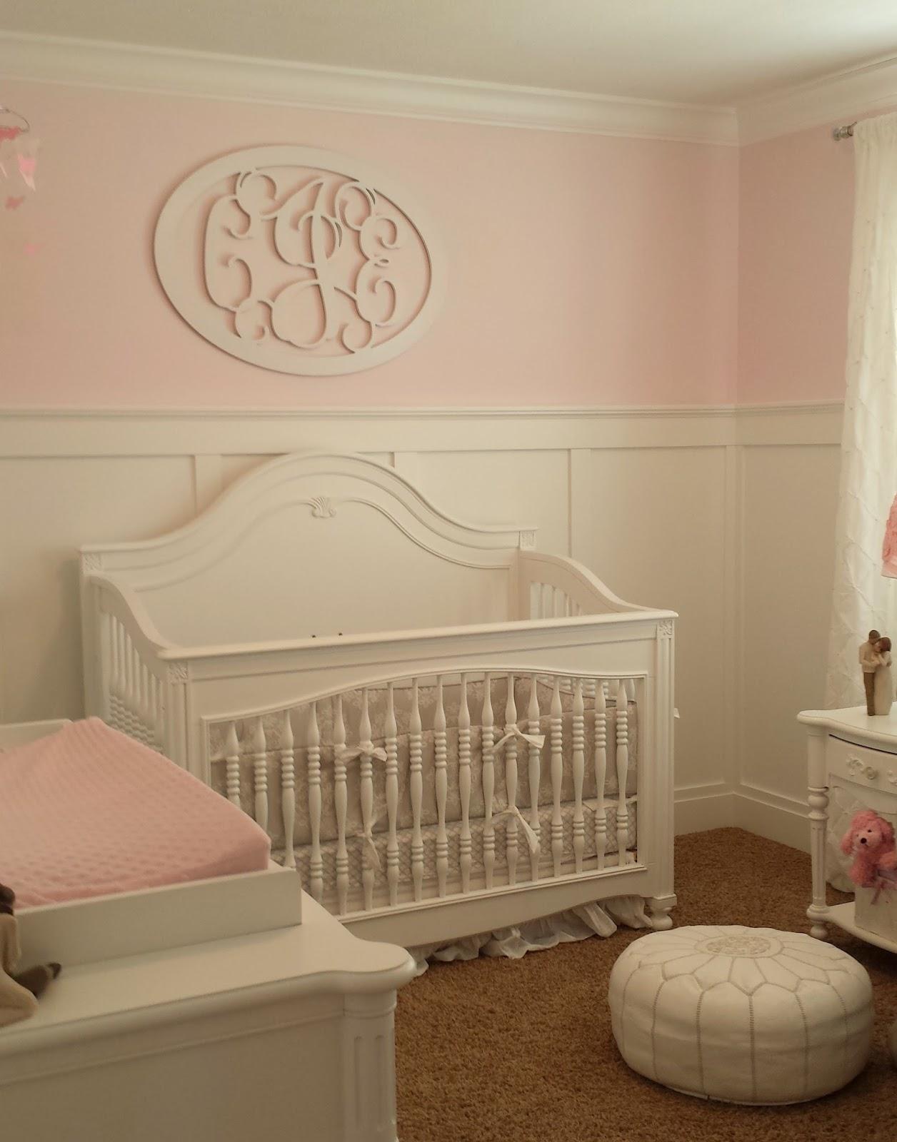 Studio 7 Interior Design Client Reveal Pink  Gray Nursery