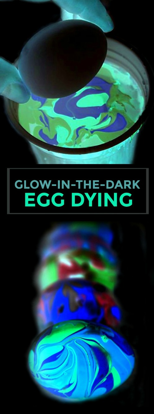GLOW-IN-THE-DARK EASTER EGG DECORATING FOR KIDS.  This is so cool!! #glowinthedarkeastereggs #eastereggdecorating #dyingeastereggs #eastercraftsforkids #easteractivitiesforkids #eastercrafts #activitiesforkids #craftsforkids #glowinthedarkeggs #eastereggdecoratingideas