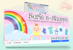 Rekaan Facebook Cover Photo Page Surie e-Shoppe