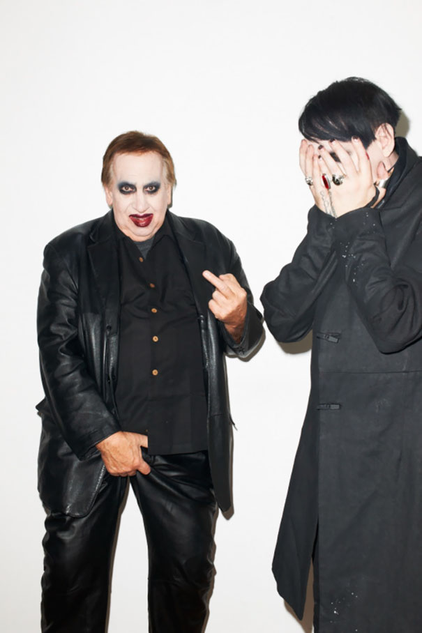 40 Photos Of The Most Hilarious Parents You Will Ever Meet - Marilyn Manson's Dad Surprised Him At His Photo Shoot With Terry Richardson