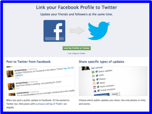 How to Link Facebook Page to Twitter