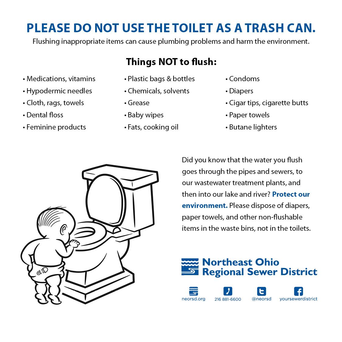 Neorsd Blog Tips 15 Things You Shouldn T Flush