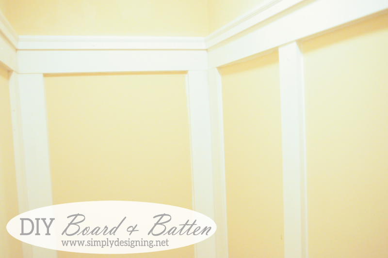 DIY Board and Batten! | how to do your own board and batten simply WITHOUT replacing your baseboards! - PIN for later! | #diy #bathroom #remodel #thehomedepot #3MPartner