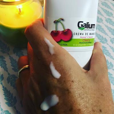galium cosmética integral, galium, crema de manos, cherry, crema de manos cherry,