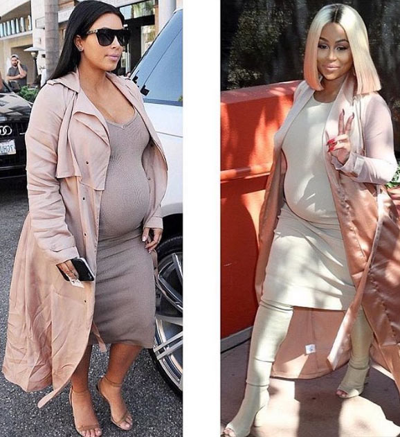 Between Kim K and Blac Chyna, who rocked the pink outfit better?