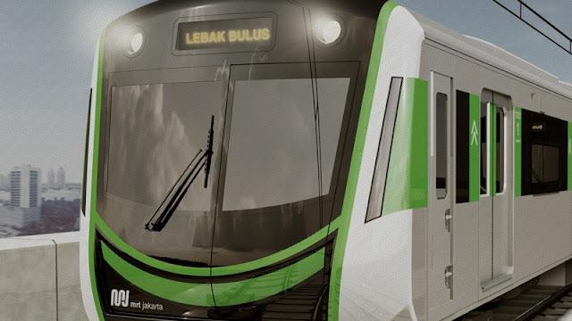 Desain kepala kereta MRT Jakarta