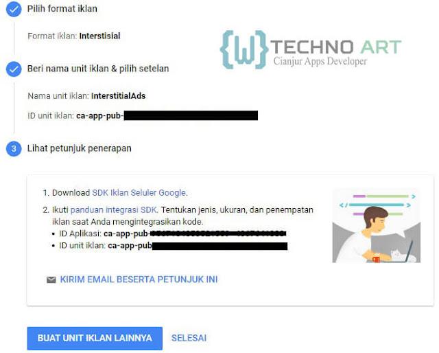 WildanTechnoArt-Petunjuk Penerapan Untuk Unit Iklan Interstitial Ads