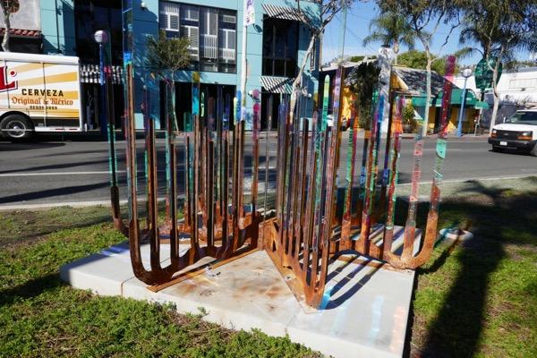 James Peterson Organ Pipe Cactus sculpture