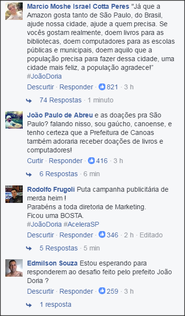 amazon vs dória