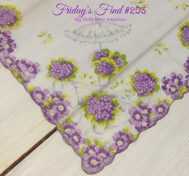 vintage floral hankie