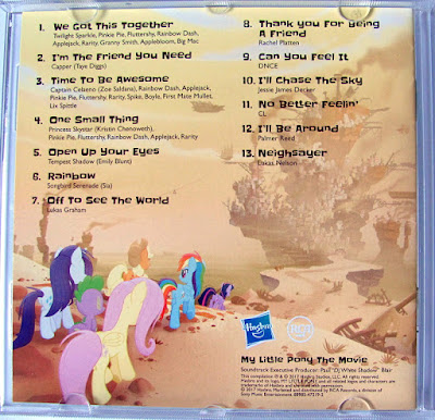 Inside cover of the MLP Movie soundtrack CD