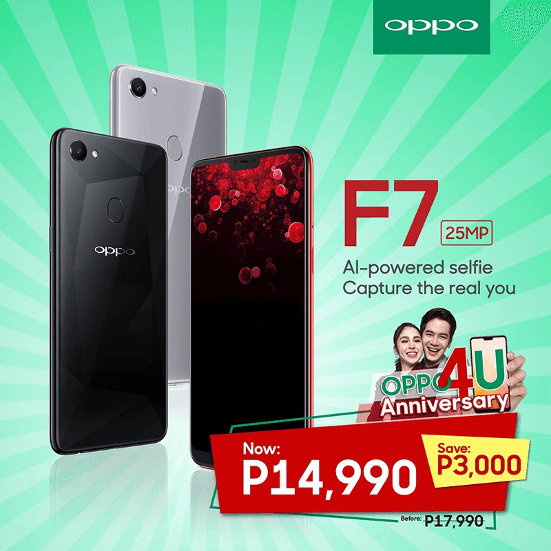OPPO F7 Drops Price to Php14,990!