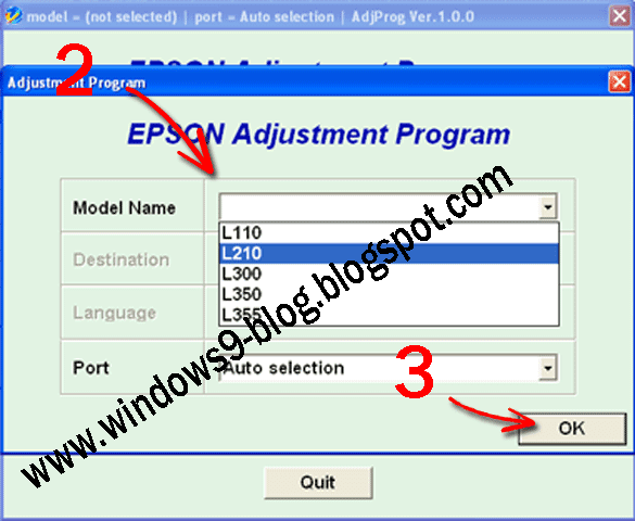 download epson l110 l210 l300 l350 l355 resetter tool download