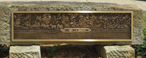 Canal Fulton centennial plaque