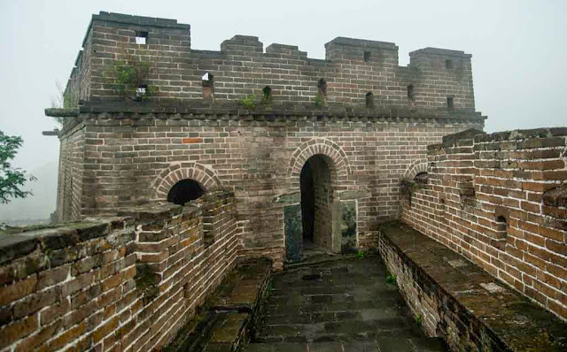Barracones en la Gran Muralla China