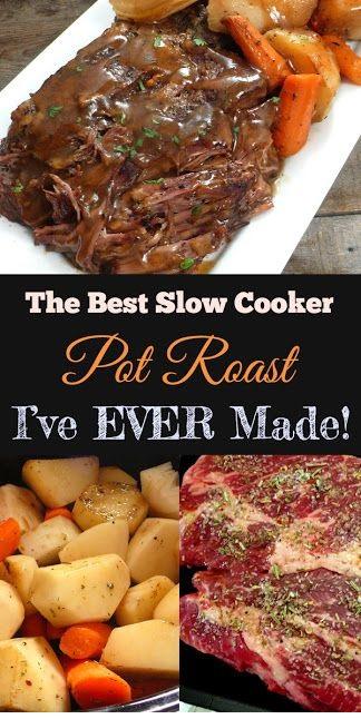 The Best Slow Cooker Pot Roast I've Ever Made!