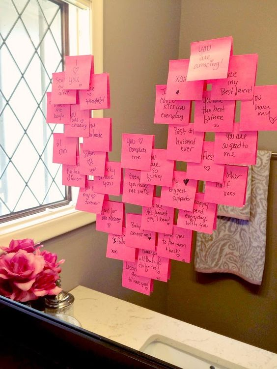 Creative Romantic Valentines Day Ideas for HimHer At Home