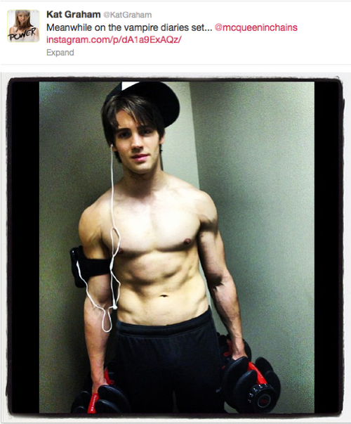 Steven R McQueen Goes Shirtless On Set  Oh yes I am