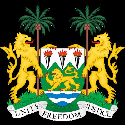 Coat of arms - Flags - Emblem - Logo Gambar Lambang, Simbol, Bendera Negara Sierra Leone