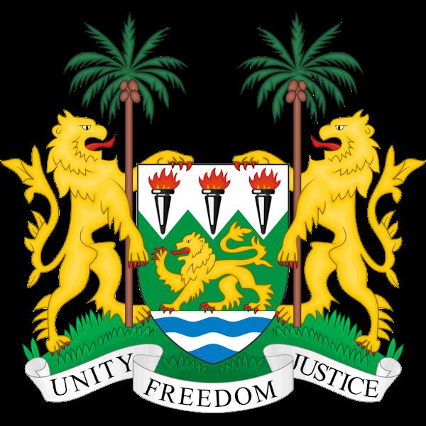 Logo Gambar Lambang Simbol Negara Sierra Leone PNG JPG ukuran 600 px