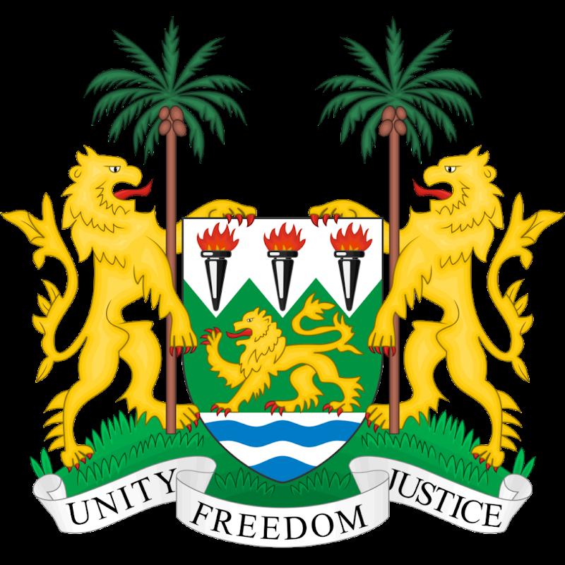 Logo Gambar Lambang Simbol Negara Sierra Leone PNG JPG ukuran 800 px