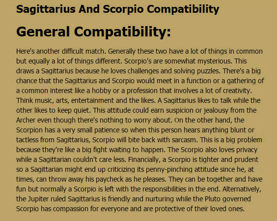 11 Quotes about SCORPIO-SAGITTARIUS Relationships | Scorpio
