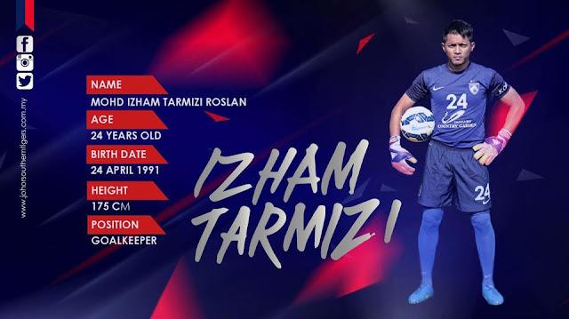 penjaga gol JDT Izham Tarmizi