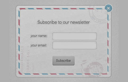 40 Wonderfully Designed Newsletter Subscription Form Photoshop Files