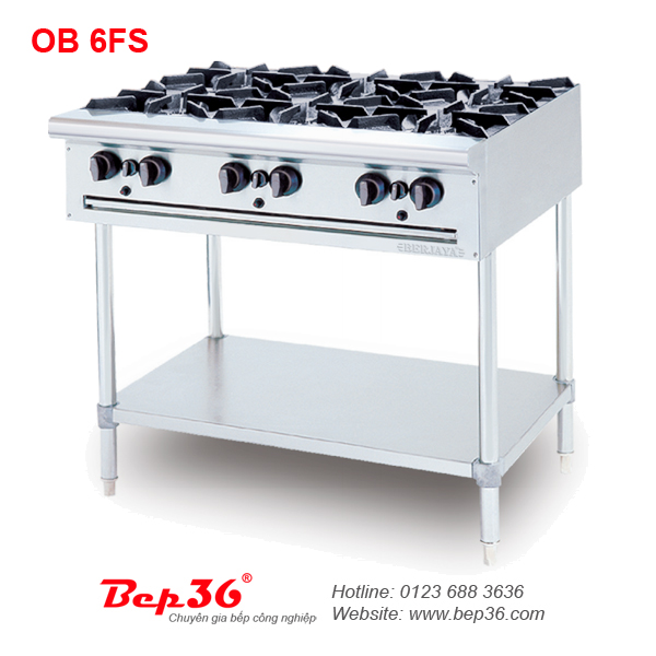 Bếp âu 6 họng chân cao Berjaya OB 6FS tại Thanh Hóa