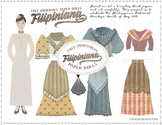 free filipiniana paper doll