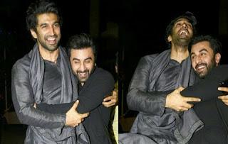 Ranbir Kapoor and Aditya Roy Kapoor enjoyed fun in the party